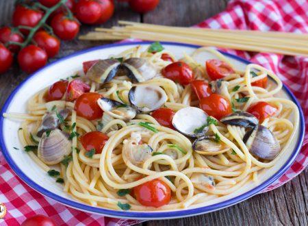 Spaghetti vongole e pomodorini – Primo piatto cremoso