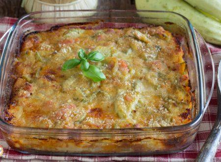 Tortino di zucchine e prosciutto – Secondo piatto cotto al forno