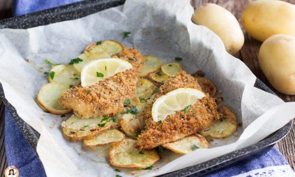 Filetti di platessa al forno con patate – Secondo piatto