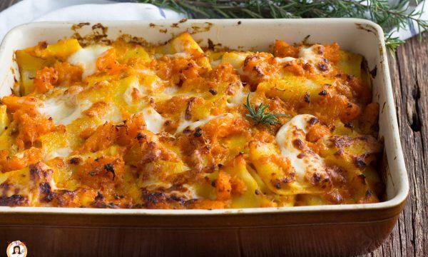 Paccheri zucca e salsiccia al forno – Primo piatto