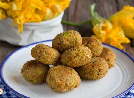 Polpette di fiori di zucca – Cotte al forno o in padella