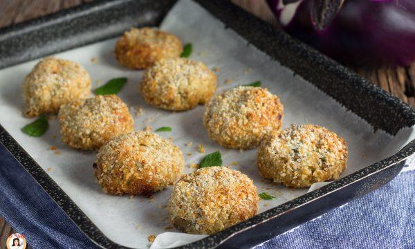 Polpette di melanzane senza uova cotte al forno – Secondo piatto