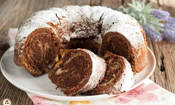 Ciambella al mascarpone e cioccolato – Torta variegata anche Bimby