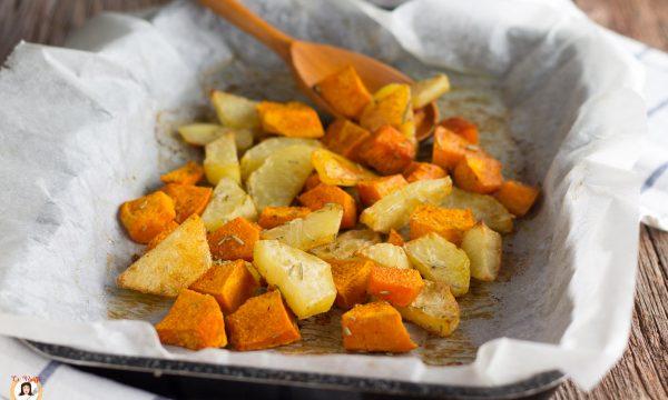 Zucca e patate al forno – Contorno facile