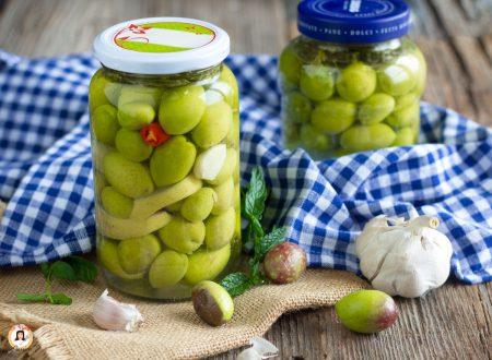 Olive in salamoia alla Siciliana – Antipasto o conserva della nonna