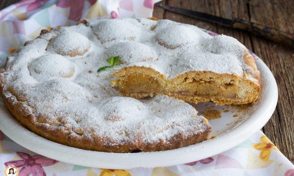 Crostata crema amaretti e marmellata – Torta ripiena