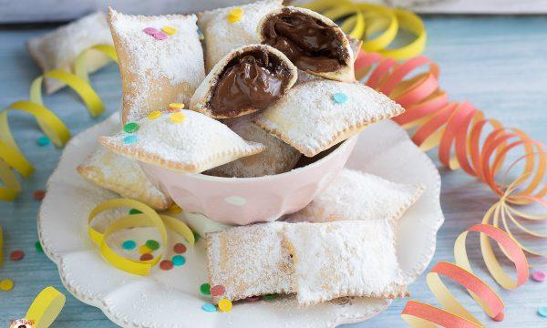 Ravioli dolci al forno con Nutella