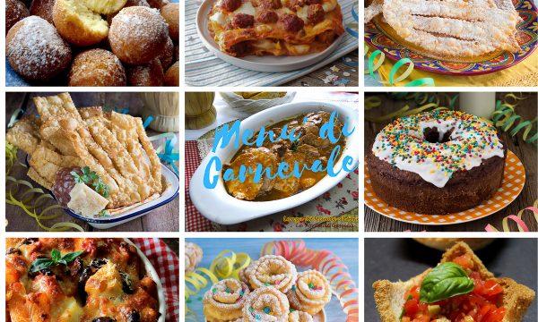 Menù di Carnevale  ricette dall'antipasto al dolce