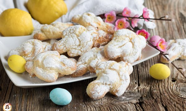 Biscotti colombine Pasquali – Impasto al limone