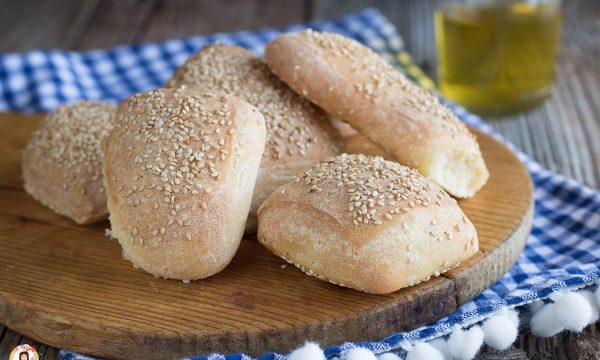 Bocconcini di pane al sesamo -Impasto croccante con 1 gr di lievito