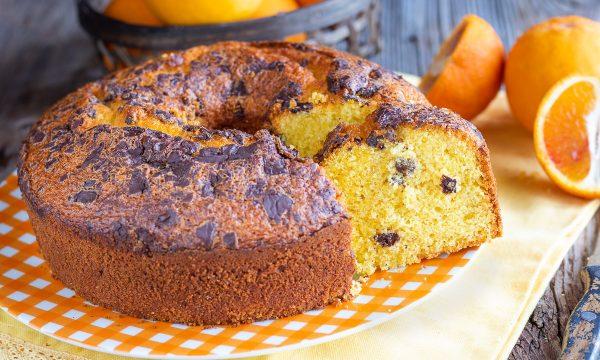 Ciambella all'arancia e cioccolato – Torta soffice senza burro