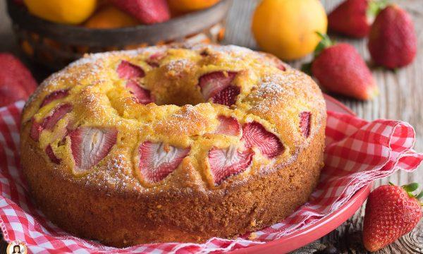 Ciambella fragole e arancia – Torta soffice senza burro