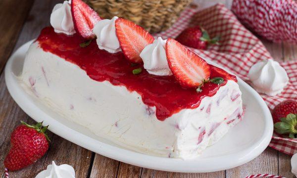 Torta gelato alle fragole – Impasto con 3 ingredienti