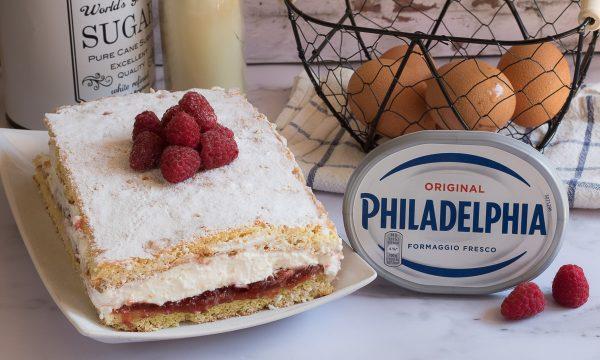Torta cremosa alla marmellata e Philadelphia