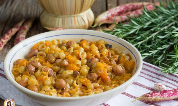 Pasta zucca e fagioli – Minestra  cremosa della Nonna