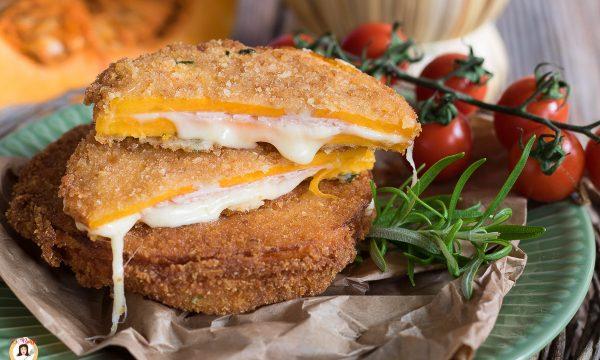 Medaglioni di zucca ripieni di prosciutto e formaggio – Cordon Bleu