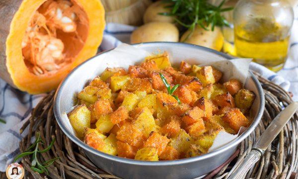 Sbriciolata di zucca e patate – Cotta al forno con prosciutto e mozzarella