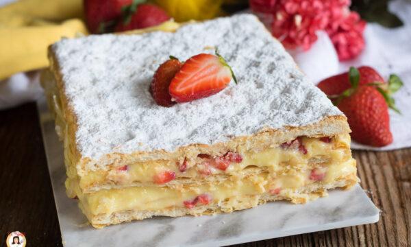 MILLEFOGLIE ALLE FRAGOLE – Con crema pasticcera al limone