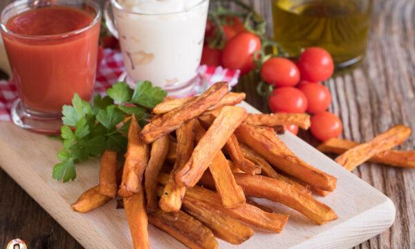 PATATE AMERICANE FRITTE – Bastoncini di patate dolci