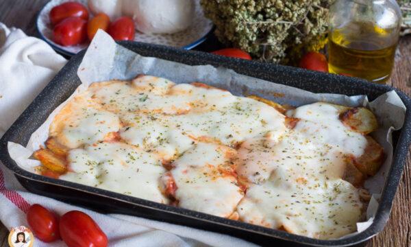 PIZZA DI PATATE – Con mozzarella filante