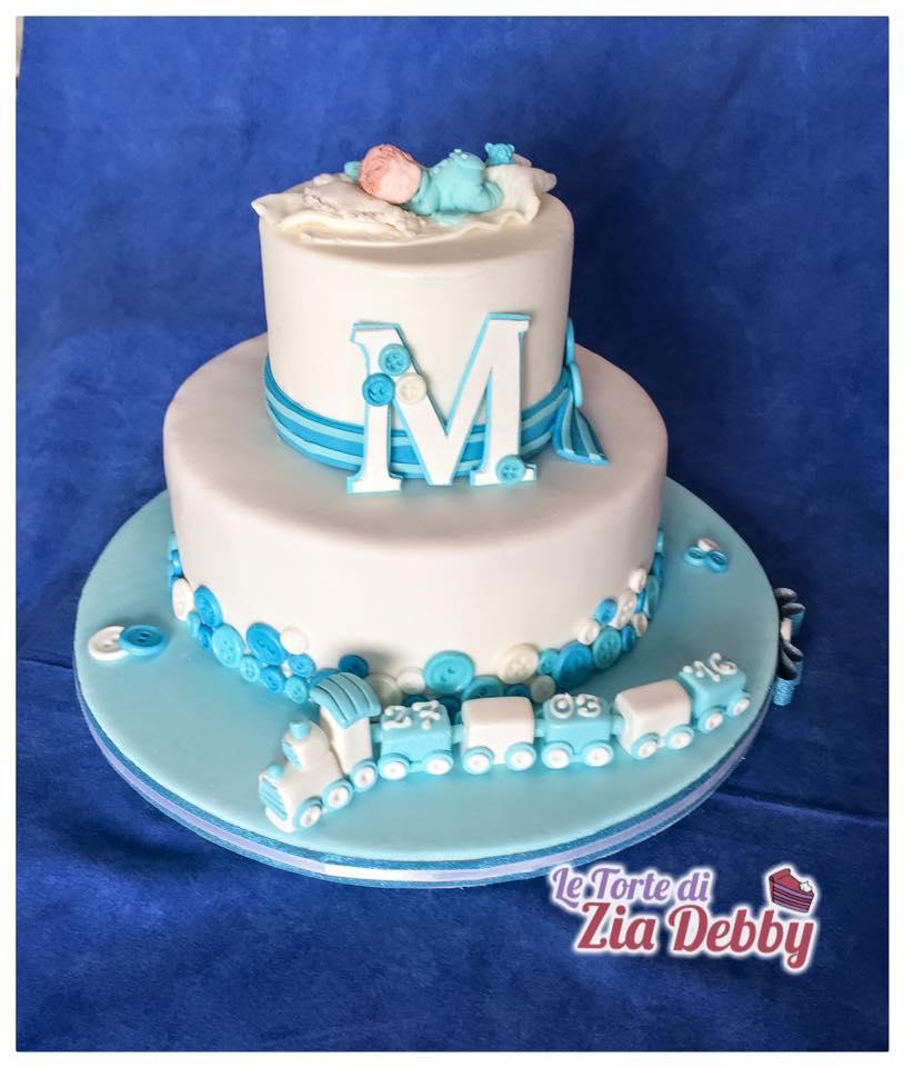 Famoso Torta Battesimo con trenino e bimbo | Le Torte di Zia Debby VW16
