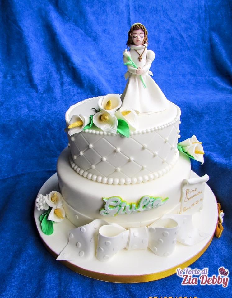 Preferenza Torta per la Comunione di Giulia   Le Torte di Zia Debby JZ35