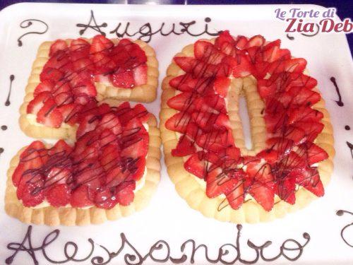 Crostata alle fragole per 50° compleanno