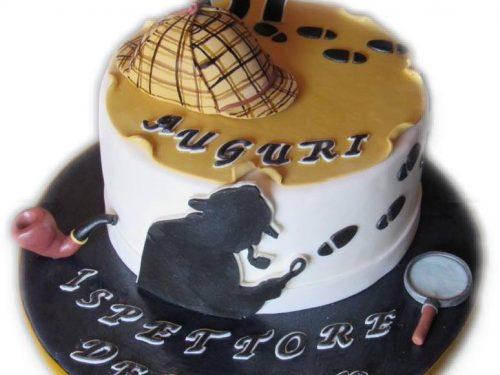 """Torta di compleanno per un dolce """"Detective"""""""