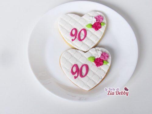 Biscotti decorati per un 90° compleanno