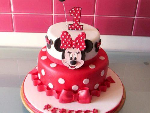 Torta di compleanno con Minnie