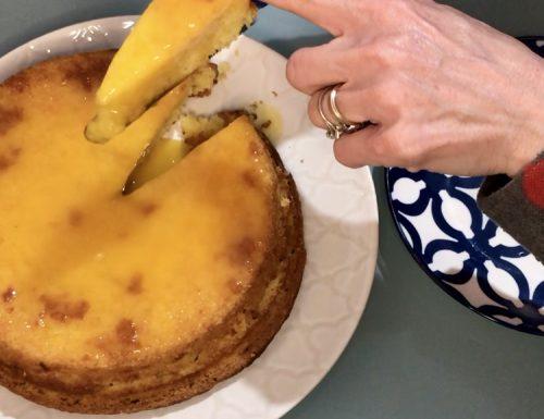 Torta all'arancia senza uova.