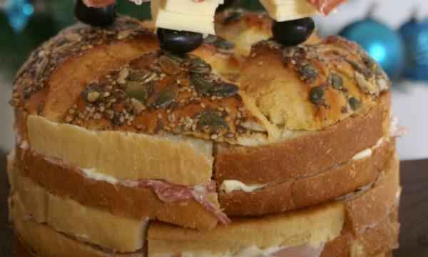 Panettone gastronomico o Pan canasta con lievito madre