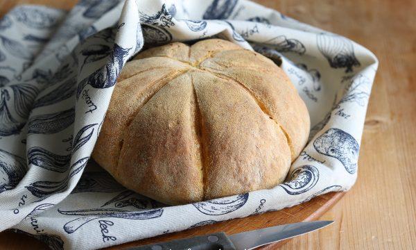 Pane con zucca ed a forma di zucchetta