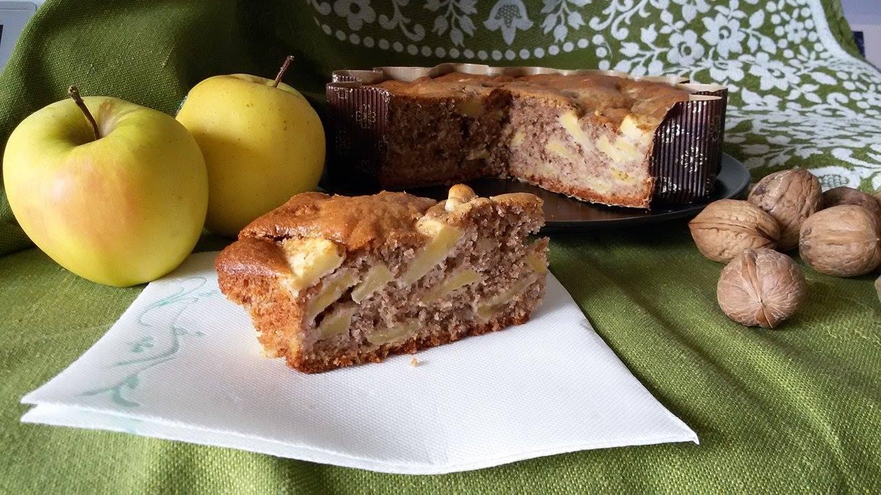 Torta di mele e noci bimby