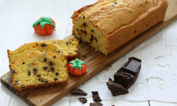 Plumcake alla zucca e gocce di cioccolato