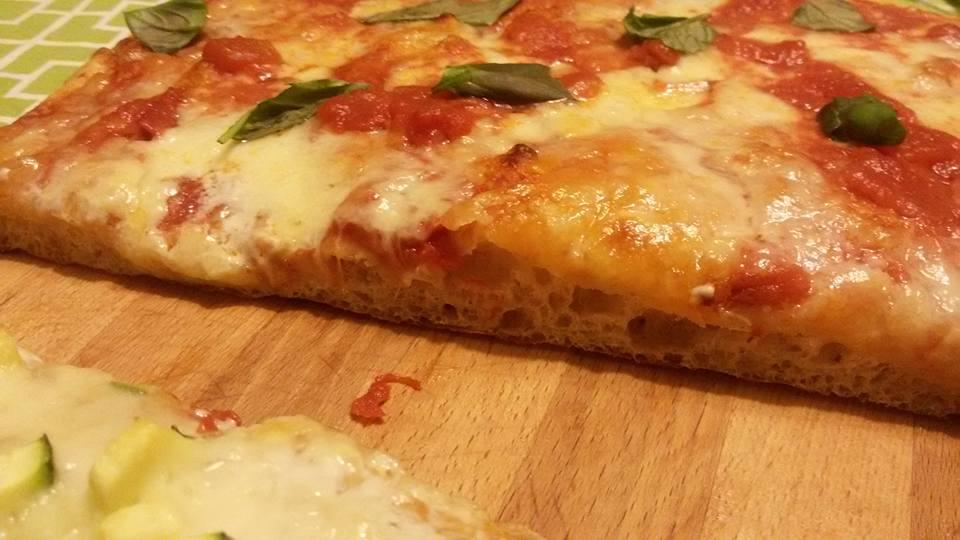 Pizza in teglia con sosta frigo