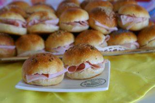 Mini buns panini morbidi da buffet