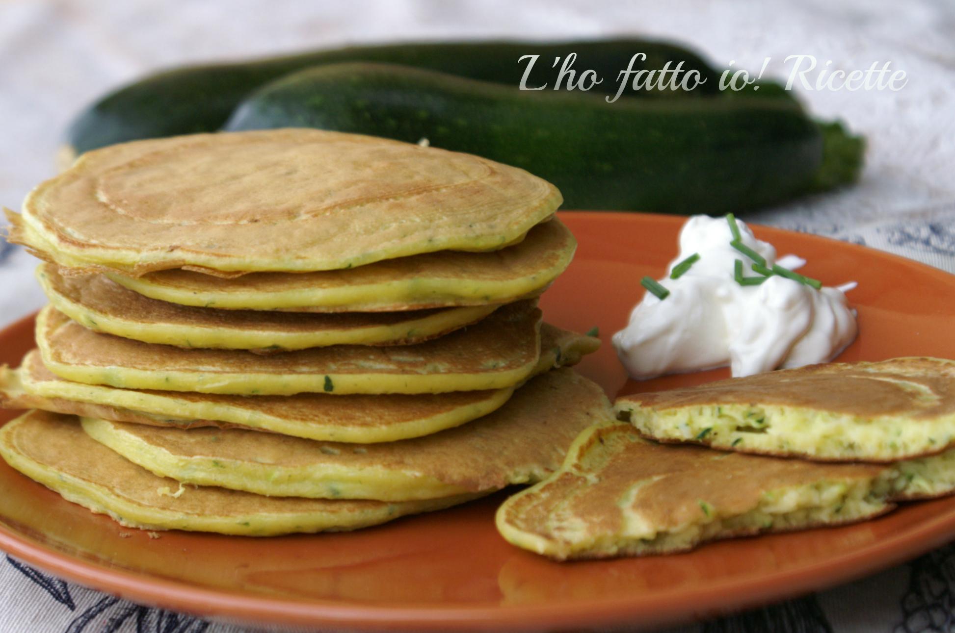 Pancake salati con lievito madre