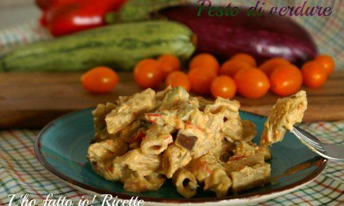 Pasta con pesto di verdure bimby