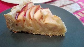 Crostata di mele con crema alla cannella