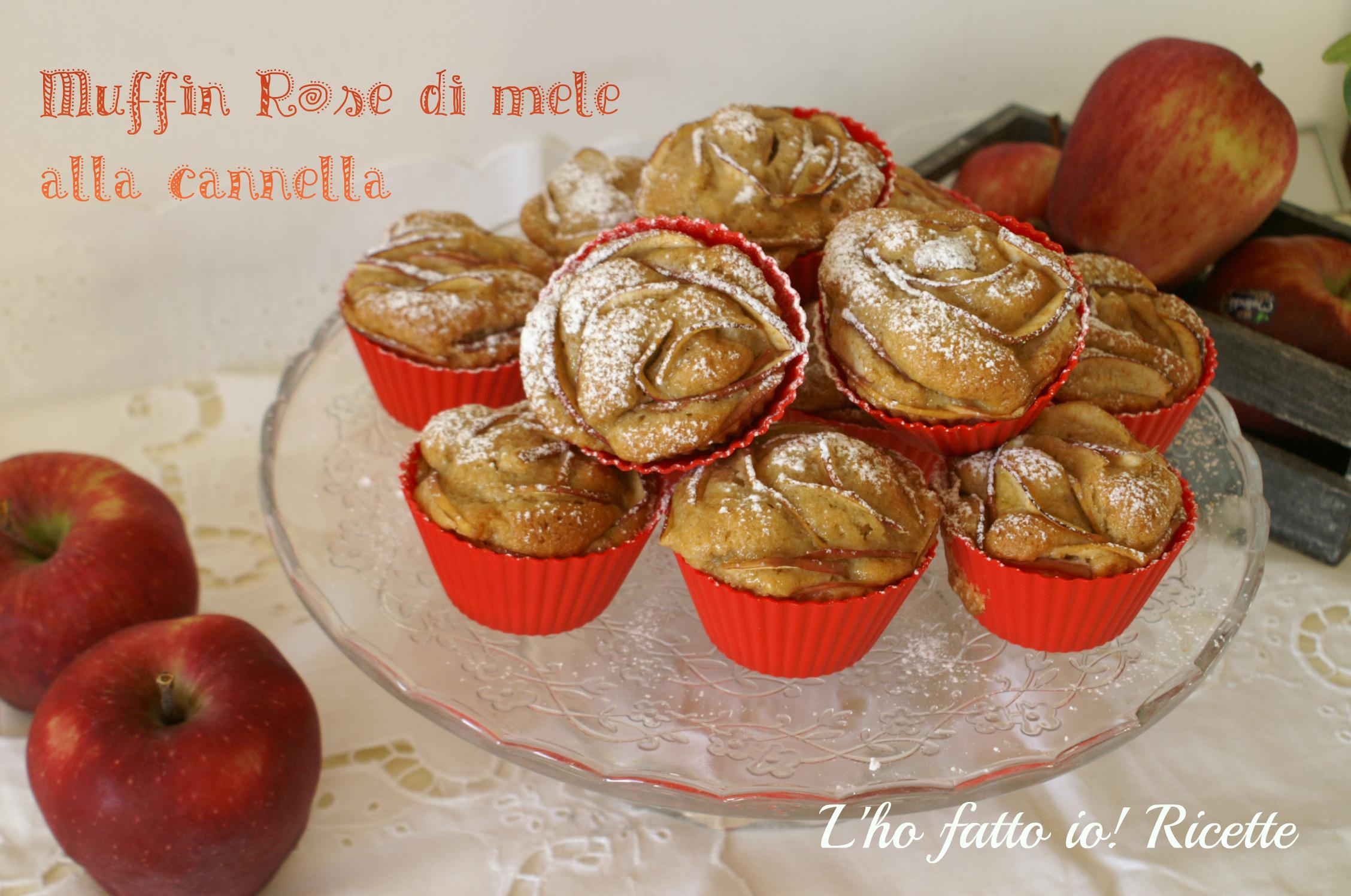 Muffin Rose di mele alla cannella