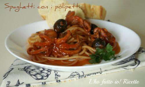 Spaghetti con sugo di polipetti