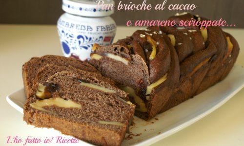 Pan brioche al cacao e amarene