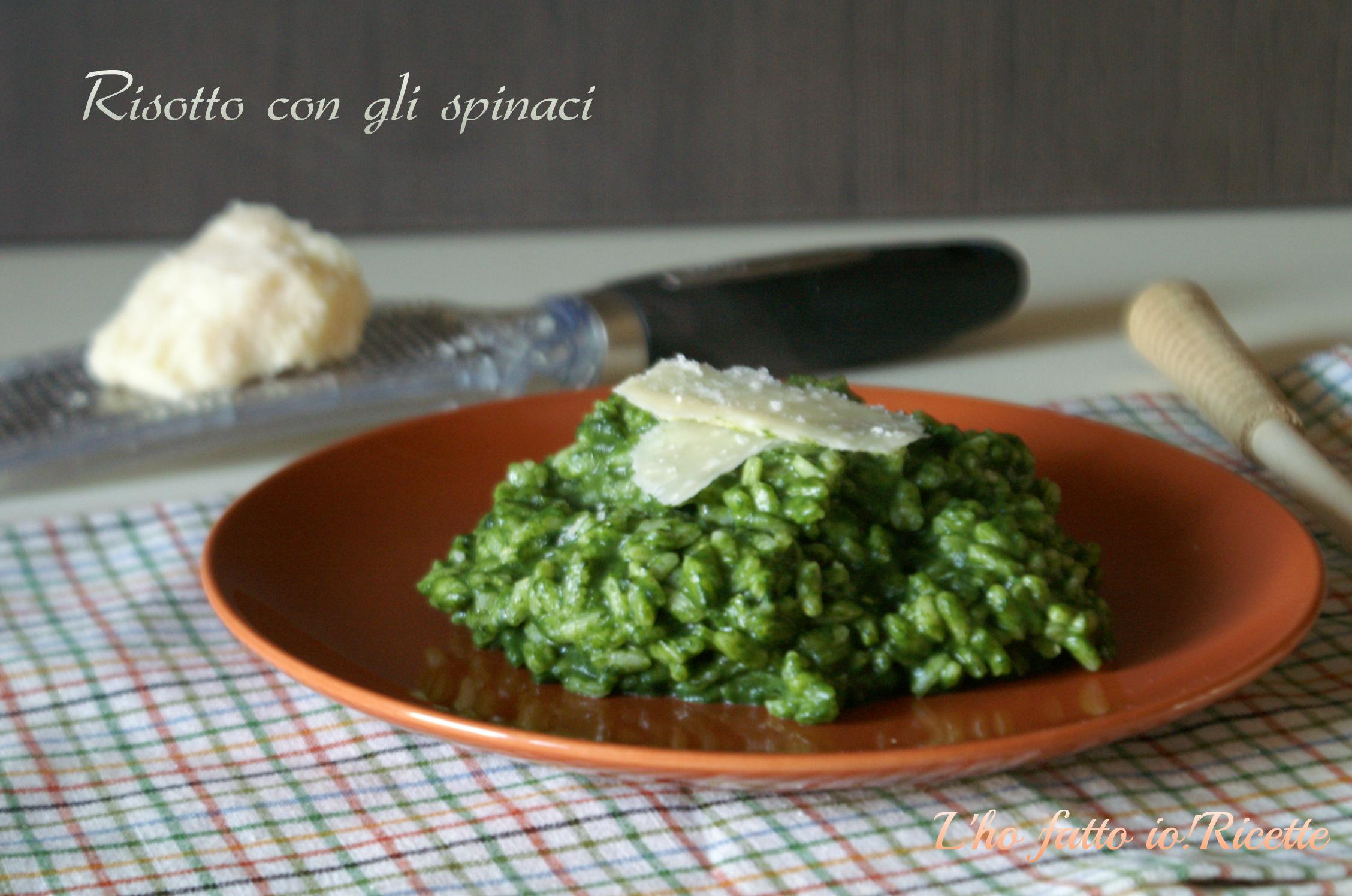 Risotto con gli spinaci