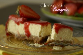 Cheesecake con le fragole con cottura