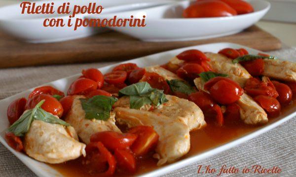 Filetto di pollo con i pomodorini