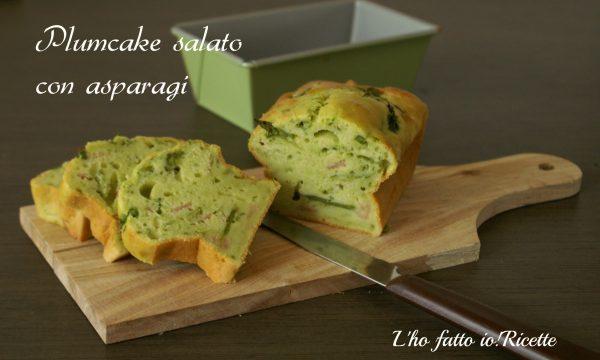 Plumcake salato con salumi e asparagi