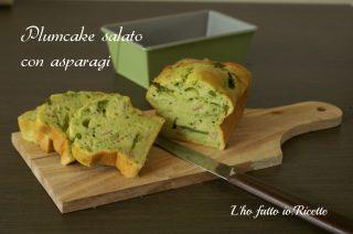 Plumcake salato con asparagi e salumi