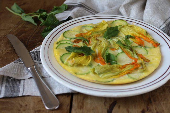 frittata con i fiori di zucchine