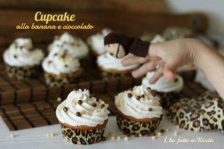 Cupcake alla banana e gocce di cioccolato